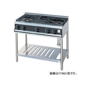 *タニコー*VT1222A[10780422] 業務用 ガステーブルレンジ 奥行750mm 4口タイプ