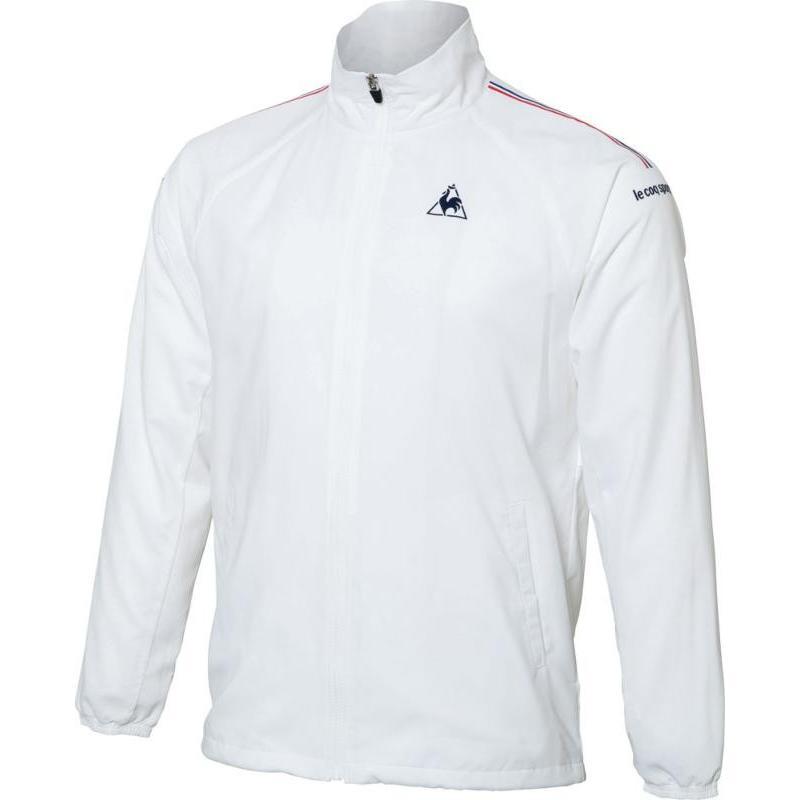 le coq sportif(ルコック) メンズ テニスウェア ウィンドジャケット(裏メッシュ) QTULJF30ZZ WHT ホワイト L