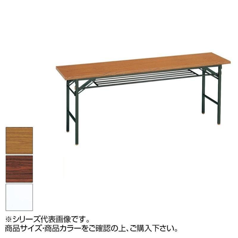 【代引・日時指定・北海道沖縄離島配送不可】トーカイスクリーン 折り畳みテーブル T-205 チーク