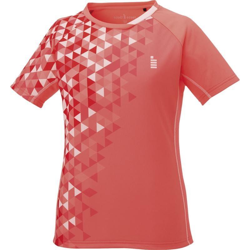 GOSEN(ゴーセン) (レディース テニス・バドミントンウェア) レディース ゲームシャツ T1717 コーラルレッド M
