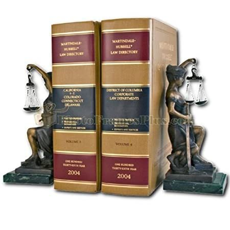 Kneeling Lady Justice Legal Bookends