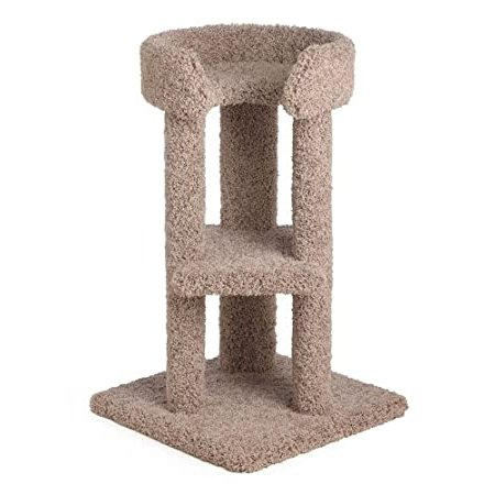 34 Inch Corner Tower : Color Brown : Leg Covering 2 SISAL Legs : Size 34 IN