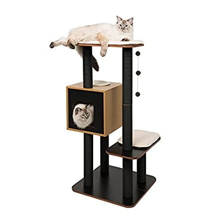 Vesper Cat Tree, High Base, Black·, 52046