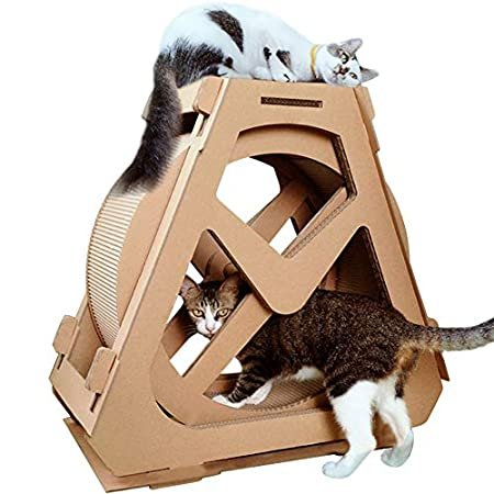 Creation Core Multi-Level Cat Scratcher Board Ferris Wheel Shaped Toy Bed S