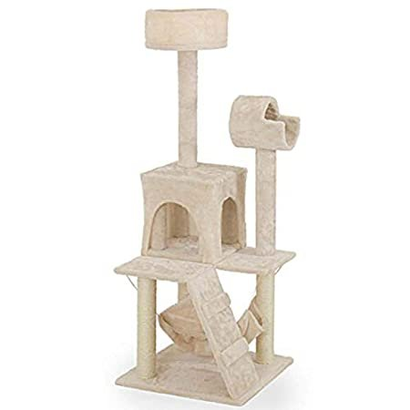 Cat Jumping Toy with Ladder Scratching Wood Climbing Tree for Cat Climbing