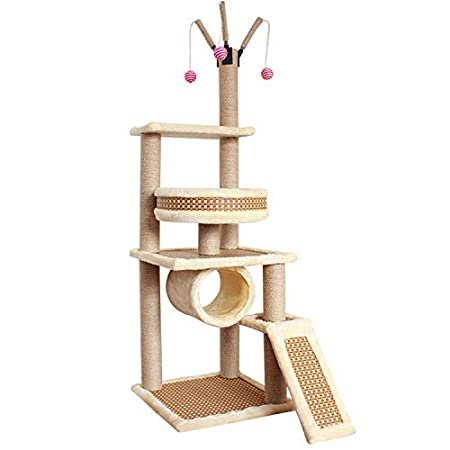 Jim-Hugh Cat Scratching Post Climbing Tower Tree Dual-use Four Seasons Sisa
