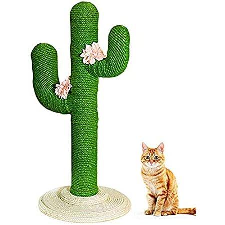 SAVFOX Cactus Cat Tree & Scratching Post (L - 47in Tall)