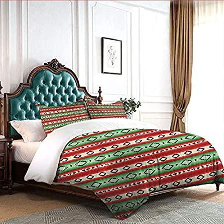 4pcs Bedding Set Bed Sheet Holder Straps Sheets Mexican-Blanket-Geometric-P