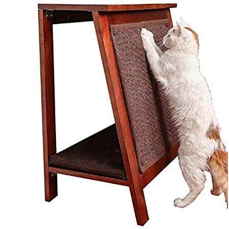 "Pro&Family Cat Bed in Mahogany, 23.5"" L X 15"" W X 28"" H. Best Cat Scratcher"
