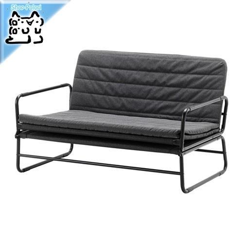 IKEA Original Original HAMMARN ソファベッド クニーサ ダークグレー/ブラック 120cm セミダブルサイズ
