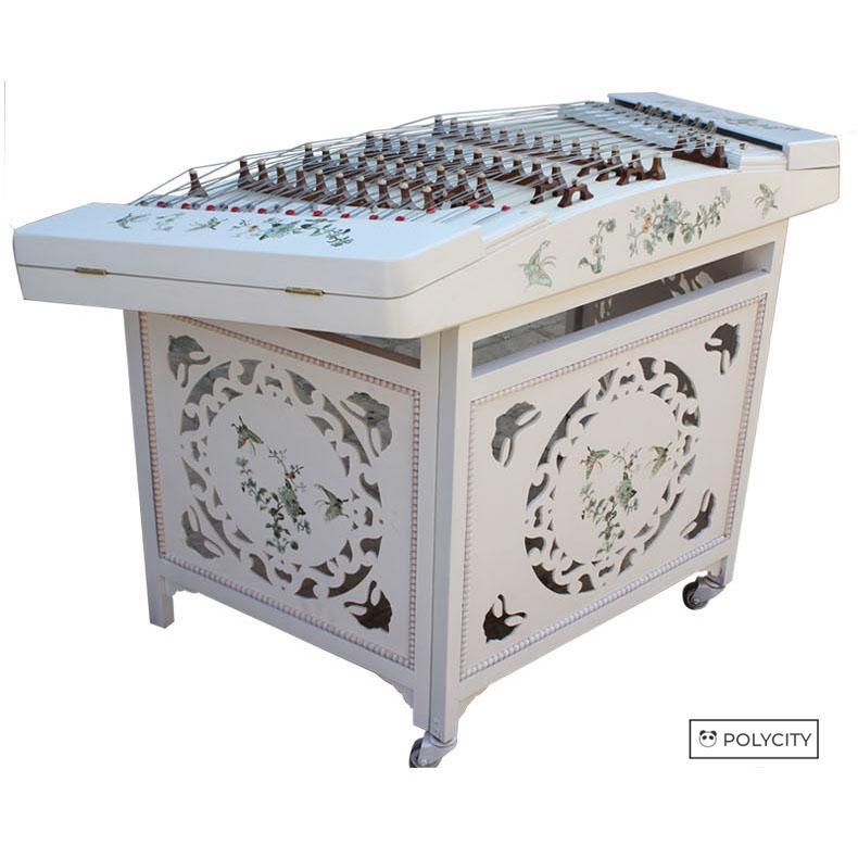 【良い素材】 揚琴 洋琴 ようきん 高品質のエゾイタヤ 高品質の桐材料 78*117*78cm 高品質 演奏 手彫りの職人技