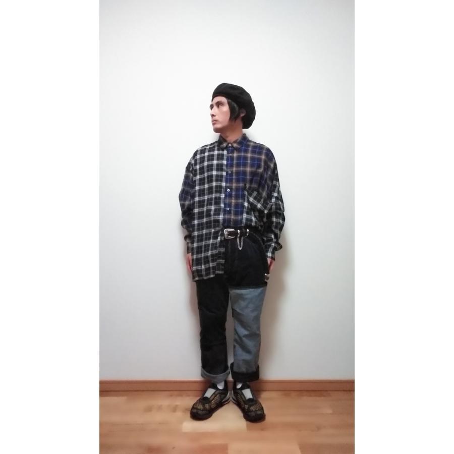 <SALE>30%OFF 定価¥24,200 JieDa SWITCHING 2WAY FLARE PANTS (IND) サイズ0 ジエダ デニム denim ジーンズ コーデュロイ|poompoom|10