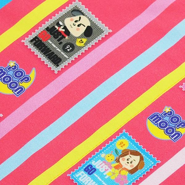 レッスンバッグ 大きめ 小学校 通学カバン 通学バッグ 絵本カバン ポケットつき かわいい 女の子 エメラルドグリーン ピンク ストライプ チェック pop-collection 10