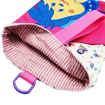 シューズバッグ 上履き入れ キャラクター マチ付き 女の子 可愛い ポケットつき ぽちまり ピンク・ブルー|pop-collection|04