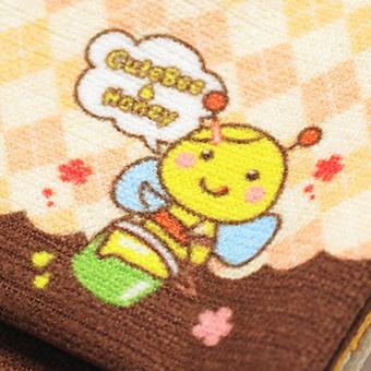 キャラクター移動ポケット クリップ付き 移動ポーチ  付けポケット ブラウン×オレンジ ハニー|pop-collection|07