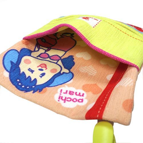 キャラクター移動ポケット ピンク クリップ付き 移動ポーチ 移動ポケット 付けポケット 人魚のぽちまり pop-collection 05