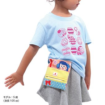 キャラクター移動ポケット ピンク クリップ付き 移動ポーチ 移動ポケット 付けポケット 人魚のぽちまり pop-collection 07