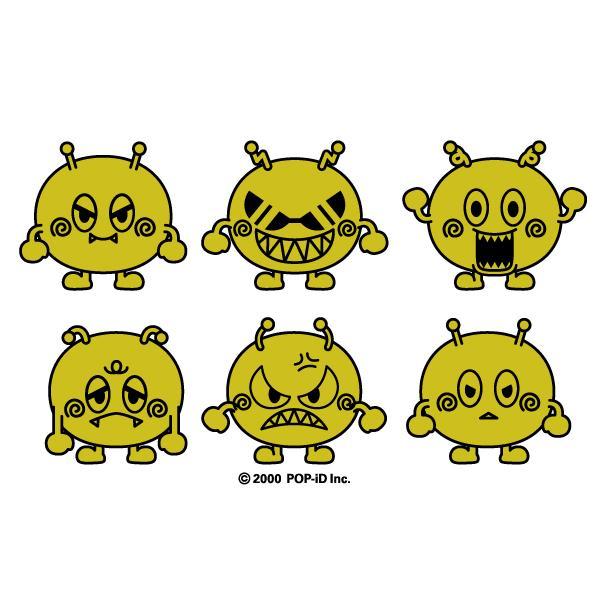 蒔絵ステッカー アウトドア 屋外OK 車 バイク 自転車 おしゃれ キャラクター ゴールド 金色 キラキラ ビヨ星人  pop-collection 02