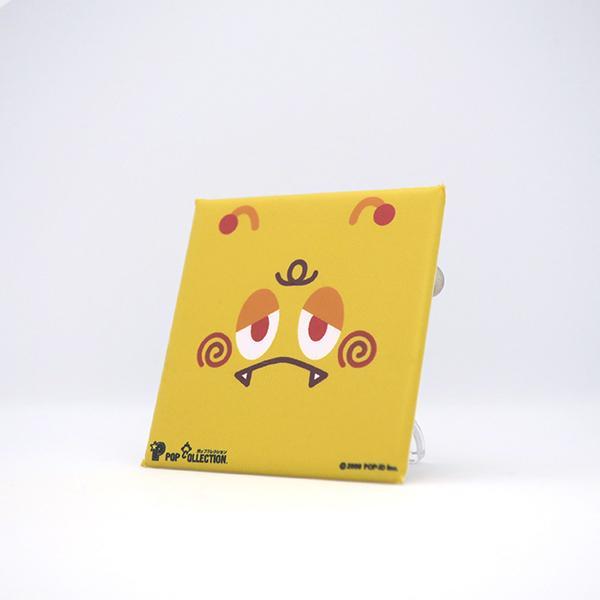 置物 かわいい 小さい スタンドクリップ付き スクエア 四角 黄色 キャラクター キイビヨ|pop-collection|02
