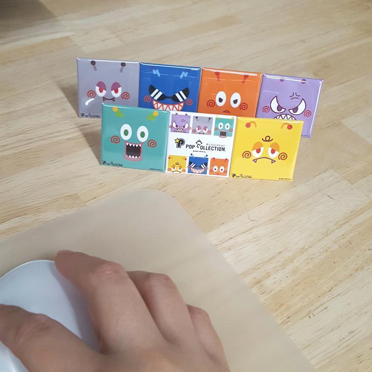 置物 かわいい 小さい スタンドクリップ付き スクエア 四角 黄色 キャラクター キイビヨ|pop-collection|06
