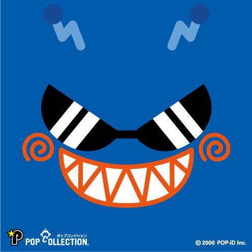 置物 かわいい 小さい 缶バッジ 缶バッチ 缶バッヂ スタンドクリップ付き スクエア 四角 青 ブルー アオビヨ pop-collection 03