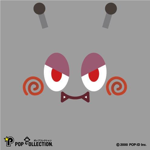 置物 かわいい 小さい 缶バッジ 缶バッチ 缶バッヂ スタンドクリップ付き スクエア 四角 グレー キャラクター マルビヨ|pop-collection|03