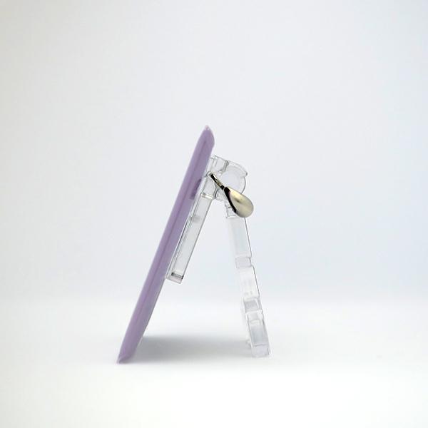 置物 かわいい 小さい 缶バッジ 缶バッチ 缶バッヂ スタンドクリップ付き スクエア 四角 紫 ムラビヨ|pop-collection|08
