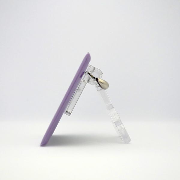 置物 かわいい 小さい 缶バッジ 缶バッチ 缶バッヂ スタンドクリップ付き スクエア 四角 紫 ムラビヨ|pop-collection|09