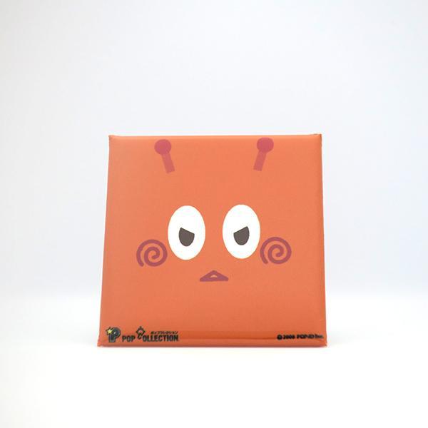 置物 かわいい 小さい 缶バッジ 缶バッチ 缶バッヂ スタンドクリップ付き スクエア 四角 オレンジ オレビヨ pop-collection
