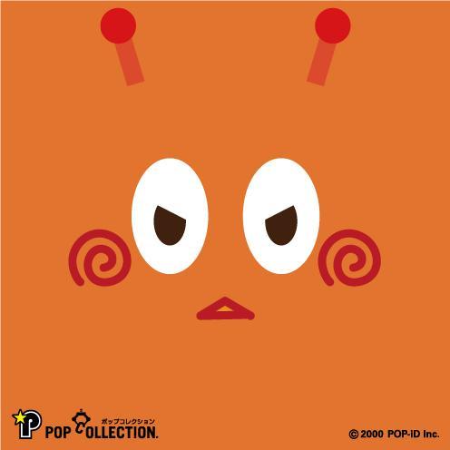 置物 かわいい 小さい 缶バッジ 缶バッチ 缶バッヂ スタンドクリップ付き スクエア 四角 オレンジ オレビヨ pop-collection 03