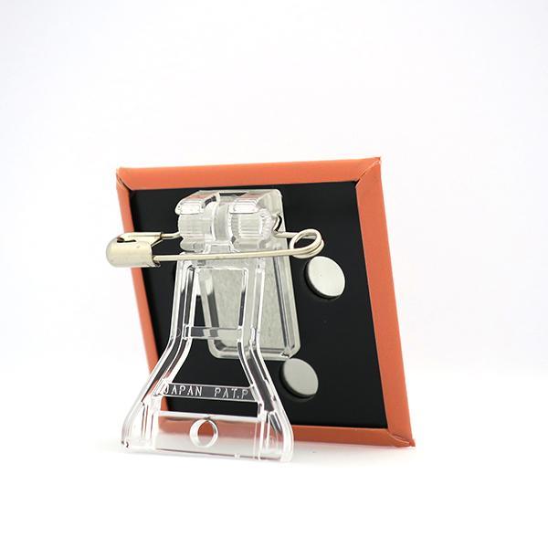 置物 かわいい 小さい 缶バッジ 缶バッチ 缶バッヂ スタンドクリップ付き スクエア 四角 オレンジ オレビヨ pop-collection 05