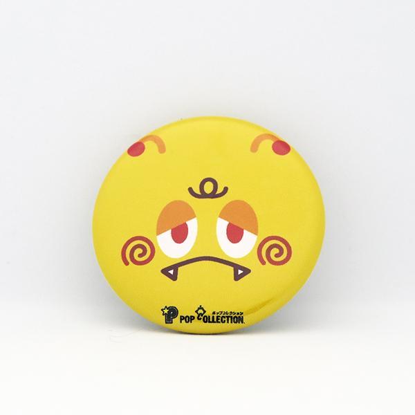 缶バッジ 缶バッチ 缶バッヂ キャラクター オリジナル シンプル 可愛い 黄色 丸型38ミリ 宇宙人 キイビヨ pop-collection