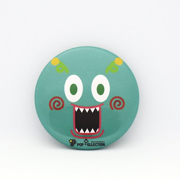 缶バッジ 缶バッチ 缶バッヂ キャラクター オリジナル シンプル 可愛い 緑色 丸型38ミリ ミドビヨ pop-collection