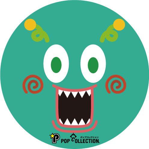 缶バッジ 缶バッチ 缶バッヂ キャラクター オリジナル シンプル 可愛い 緑色 丸型38ミリ ミドビヨ pop-collection 02
