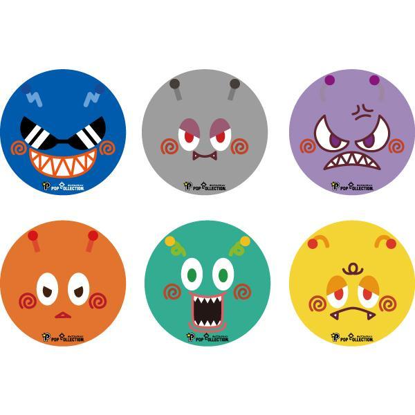 缶バッジ 缶バッチ 缶バッヂ キャラクター オリジナル シンプル 可愛い 緑色 丸型38ミリ ミドビヨ pop-collection 03