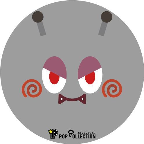 缶バッジ 缶バッチ 缶バッヂ キャラクター オリジナル 可愛い シンプル グレー 丸型38ミリ マルビヨ|pop-collection|02