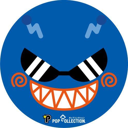 缶バッジ 缶バッチ 缶バッヂ キャラクター シンプル オリジナル 可愛い 青色 丸型38ミリ 宇宙人 アオビヨ|pop-collection|02