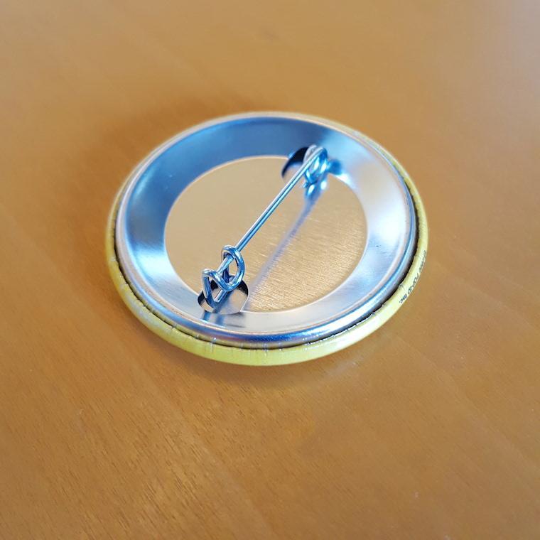 缶バッジ 缶バッチ 缶バッヂ キャラクター シンプル オリジナル 可愛い 青色 丸型38ミリ 宇宙人 アオビヨ|pop-collection|07