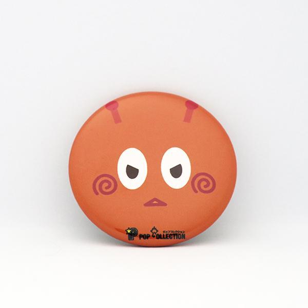 缶バッジ 缶バッチ 缶バッヂ キャラクター オリジナル 可愛い オレンジ色 丸型38ミリ 宇宙人 オレビヨ|pop-collection