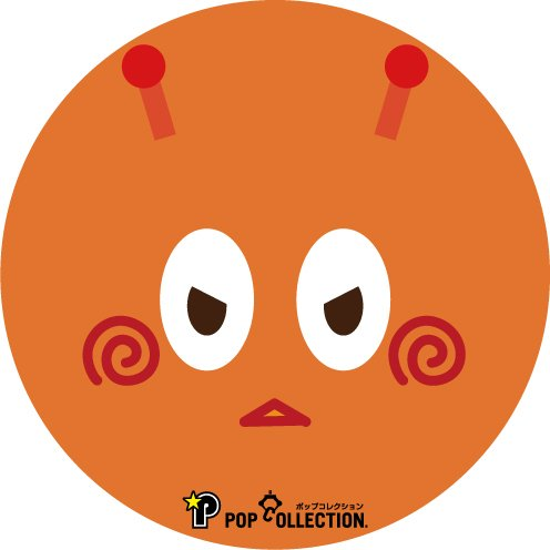 缶バッジ 缶バッチ 缶バッヂ キャラクター オリジナル 可愛い オレンジ色 丸型38ミリ 宇宙人 オレビヨ|pop-collection|02