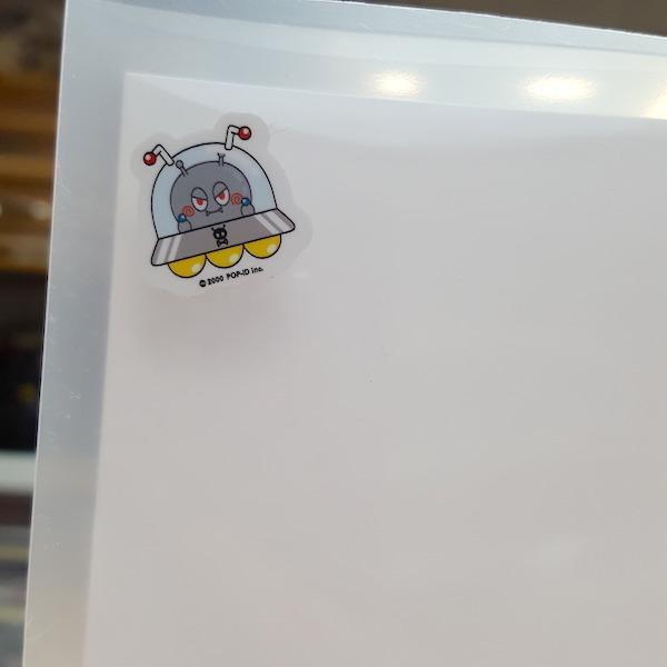 防水/UVステッカー アウトドア  屋外OK おしゃれ キャラクター 車 バイク 自転車 丈夫 シール 紫 ビヨ星人 ムラビヨ紹介|pop-collection|06