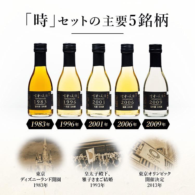 日本酒・焼酎・泡盛・梅酒 高級 ギフト お中元 最長38年 長期熟成 「時」古昔の美酒 年代別 飲み比べ 35本 セット|poppingstand|10