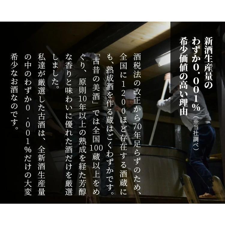 日本酒 高級 ギフト お中元 最長26年 長期熟成 「関西」古昔の美酒 年代別 飲み比べ 3本 セット poppingstand 08