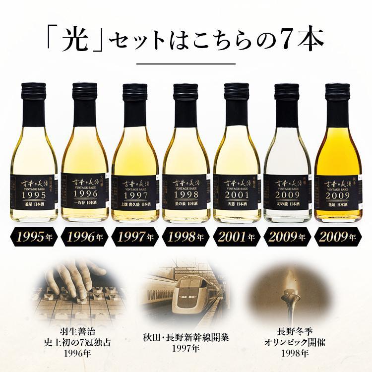 『光』日本酒 7銘柄 飲み比べ セット 高級 ギフト 最長26年 長期熟成  Vintage1995〜2009【500限定】贈答品 還暦 誕生日 敬老の日 内祝 poppingstand 10