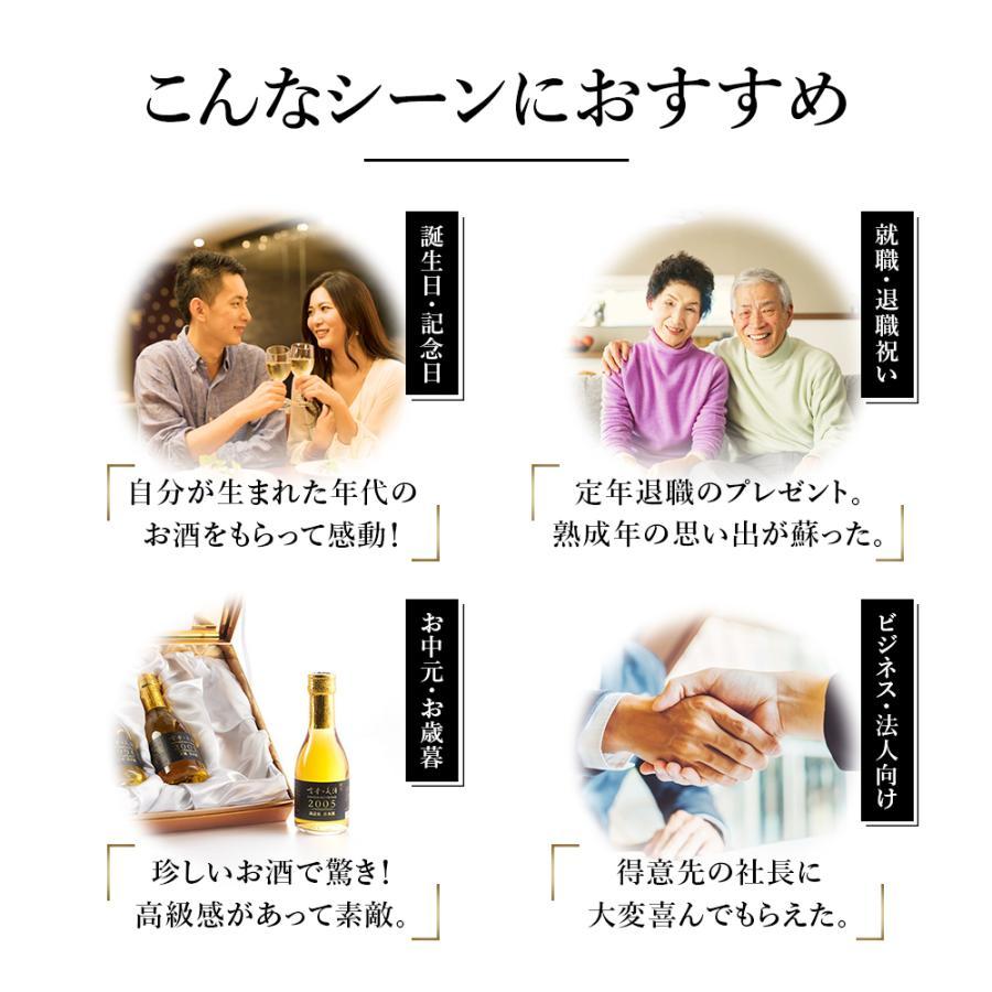 日本酒 最長26年熟成酒 高級ギフト『古昔の美酒 関西』Vintage1995,1998,2010 3種飲み比べ セット 贈答品 父の日 お中元 誕生日 還暦祝 退職祝【限定生産】|poppingstand|06