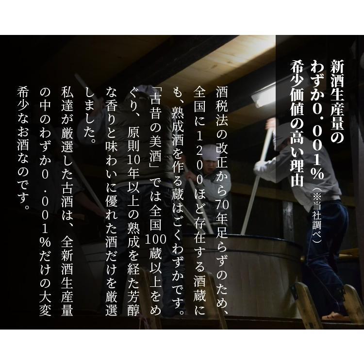 日本酒 高級 ギフト お中元 最長38年 長期熟成 「至高」古昔の美酒 年代別 飲み比べ 5本 セット|poppingstand|04