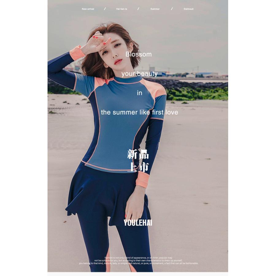 短納期☆フィットネス水着 レディース かわいい 体型カバー ビキニ 大きいサイズ ぽっちゃり 長袖ラッシュガード スポーツブラ ショーパン レギンス|porkojisan|19