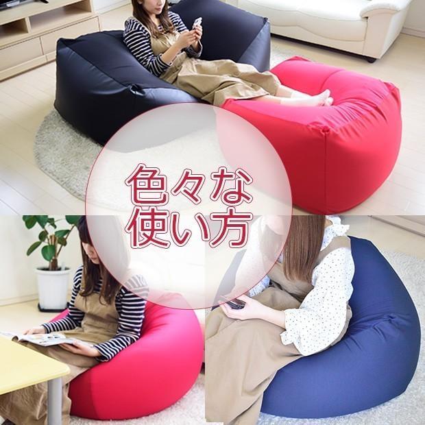 ビーズクッション キューブ スーパー ボリュームタイプ 9色 マイクロビーズ 日本充填 くせになる ビーズソファ カバーのみ丸洗い可|poruchan0820|07