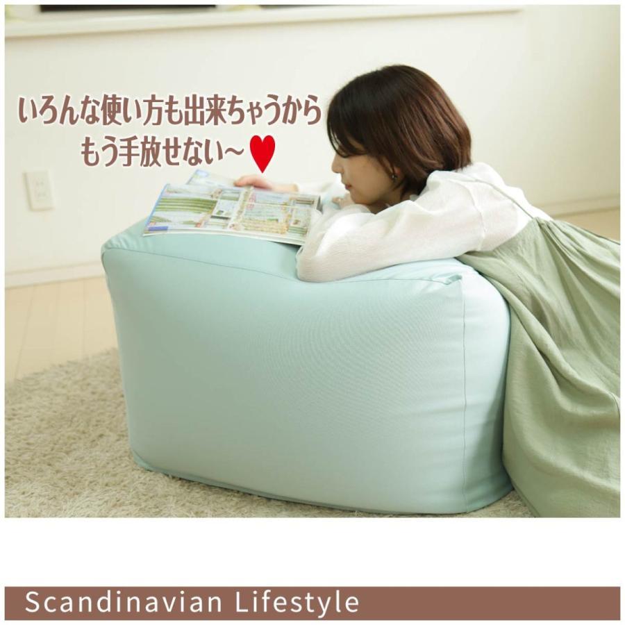 特大 ビーズクッション 北欧 ビーズソファ Cube XL スカンジナビア風 北欧風 座布団 四角型 洗えるカバー|poruchan0820|04