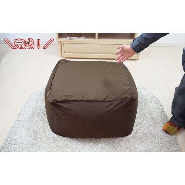 新発売 メガビーズカバー Mサイズ 9色 キューブ タイプ ビーズクッション 専用カバー(約52X52X37cm)|poruchan0820|05